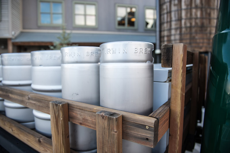 Irwin Brewing Co kegs in the truck